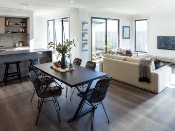 <p>This spacious open plan living creates seamless connection between each space.</p>